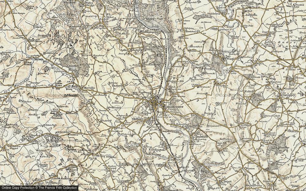 Old Map of Bridgnorth, 1902 in 1902
