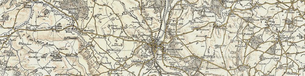 Old map of Bridgnorth in 1902