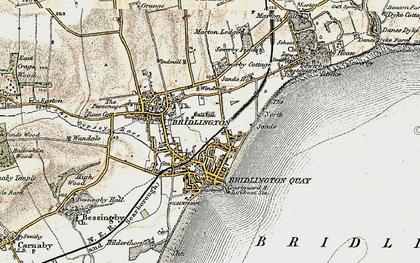Old map of Bridlington in 1903-1904