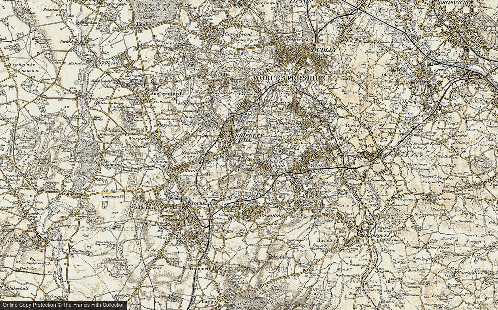 Old Map of Brierley Hill, 1902 in 1902