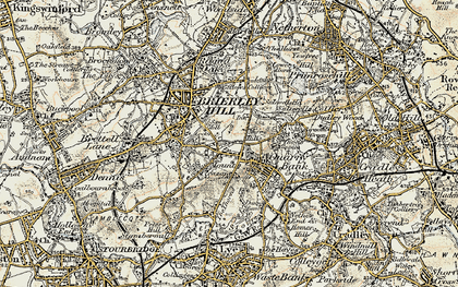 Old map of Brierley Hill in 1902
