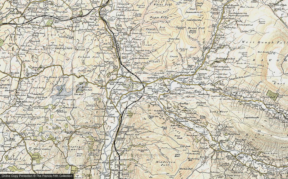 Old Map of Historic Map covering Abbot Holme in 1903-1904