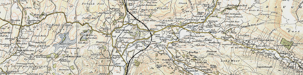 Old map of Abbot Holme in 1903-1904