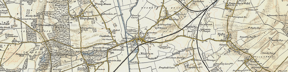 Old map of Brigg in 1903-1908