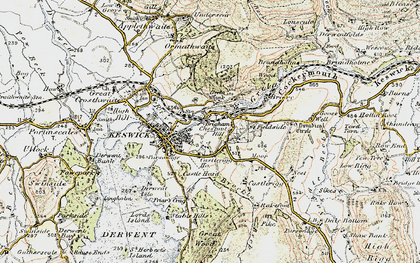 Old map of Latrigg in 1901-1904