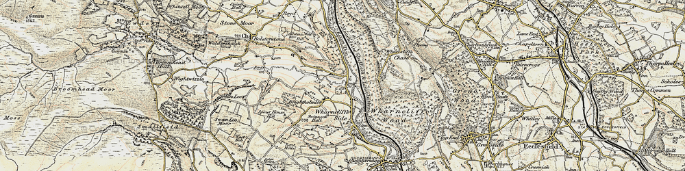 Old map of Wharncliffe Lodge in 1903