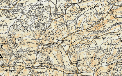 Old map of Brightling in 1898