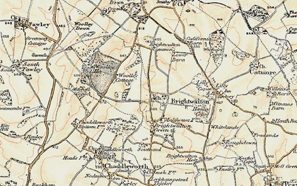 Old map of Brightwalton in 1897-1900