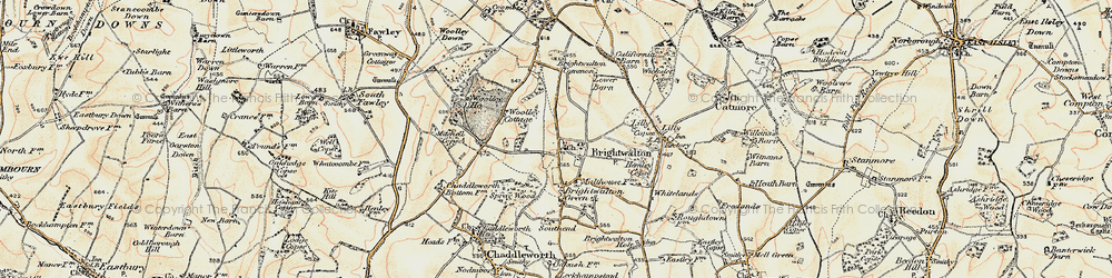 Old map of Woolley Ho in 1897-1900