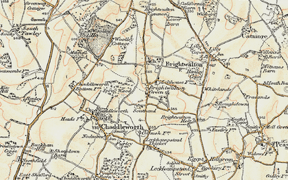 Old map of Brightwalton Green in 1897-1900