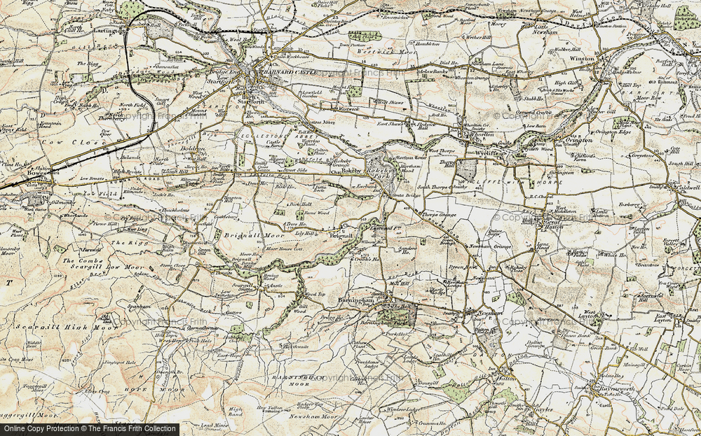 Old Map of Historic Map covering Lily Hill in 1903-1904