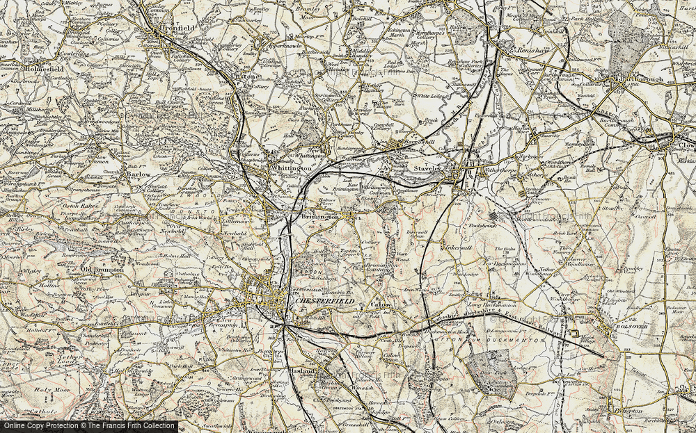 Old Map of Brimington, 1902-1903 in 1902-1903