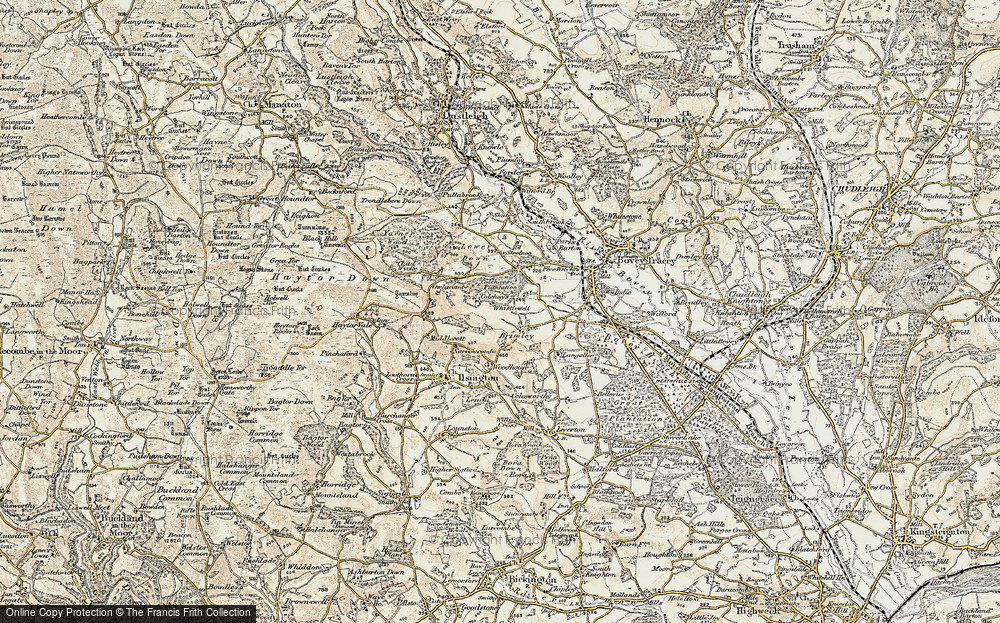 Old Map of Historic Map covering Langaller in 1899-1900