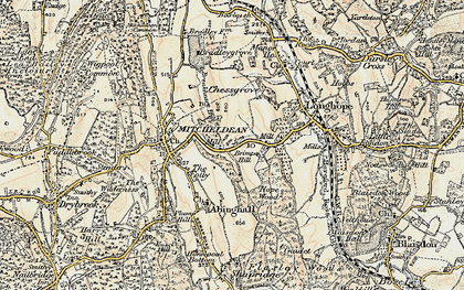 Old map of Abenhall in 1899-1900