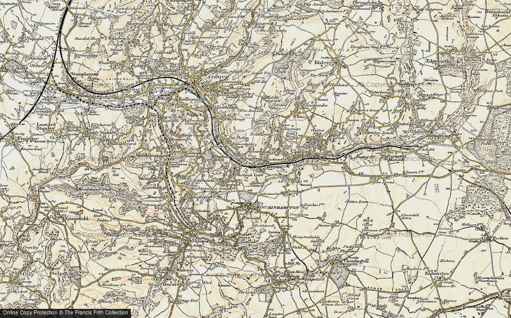 Old Map of Brimscombe, 1898-1900 in 1898-1900