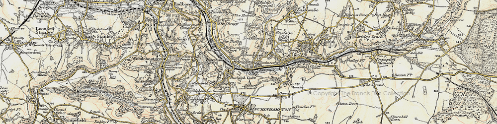 Old map of Brimscombe in 1898-1900