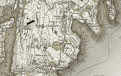 Old map of Tinda in 1911-1912