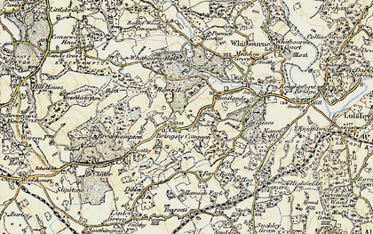 Old map of Whitbourne Hall in 1899-1902