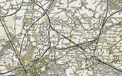 Old map of Brinnington in 1903