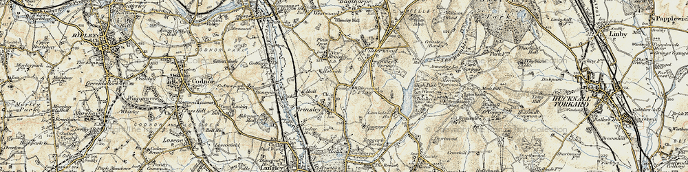 Old map of Willey Spring in 1902
