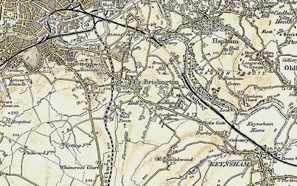 Old map of Brislington in 1899