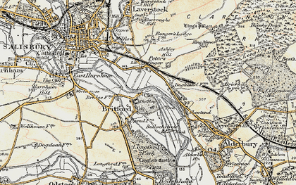 Old map of Britford in 1897-1898