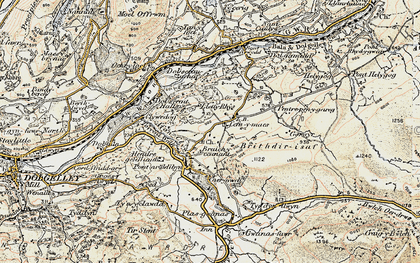 Old map of Afon Wnion in 1902-1903