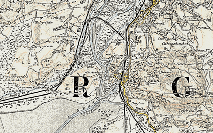 Old map of Briton Ferry in 1900-1901