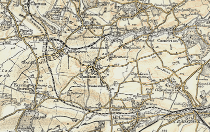 Old map of Britten's in 1899