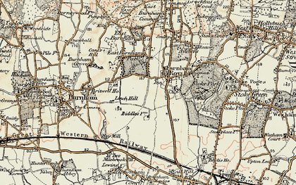 Old map of Britwell in 1897-1909