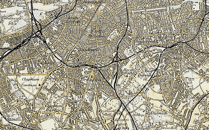 Old map of Brixton in 1897-1902