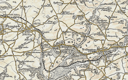 Old map of Winston in 1899-1900
