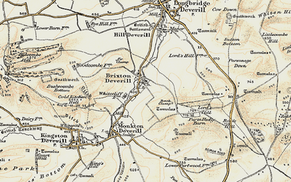 Old map of Westcombe in 1897-1899