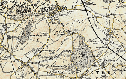 Old map of Westington Hill in 1899-1901