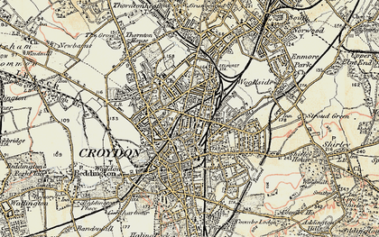Old map of Broad Green in 1897-1902