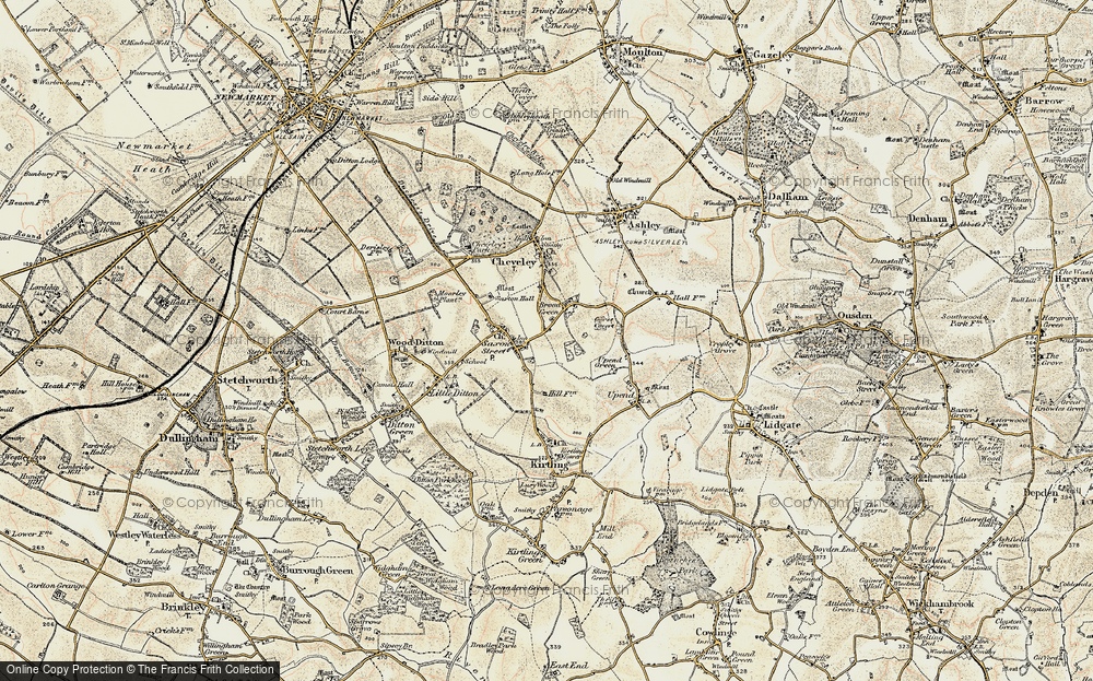 Old Map of Broad Green, 1899-1901 in 1899-1901