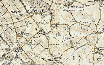 Old map of Broad Green in 1899-1901
