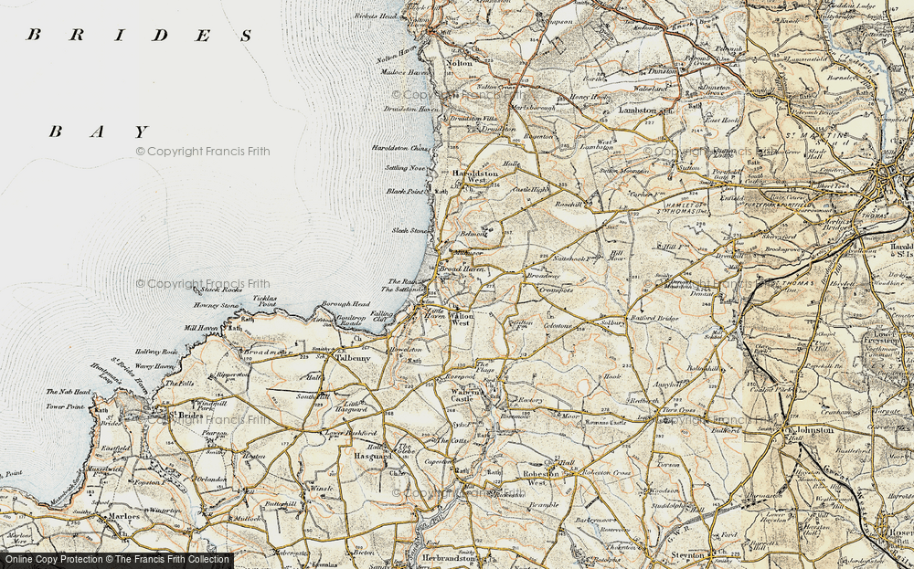 Old Map of Broad Haven, 0-1912 in 0-1912