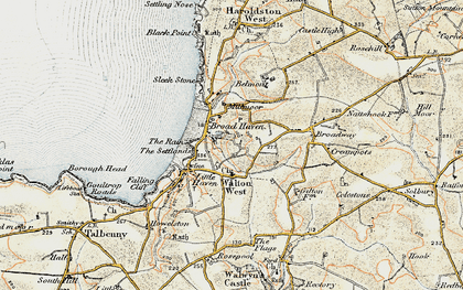 Old map of Broad Haven in 0-1912