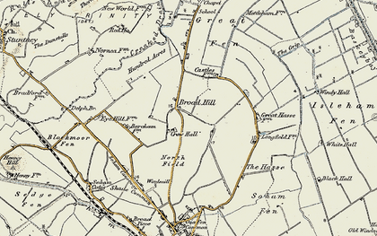 Old map of Broad Hill in 1901