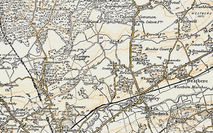 Old map of Langton Lodge in 1898-1899