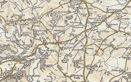 Old map of Broad Oak in 1899-1900