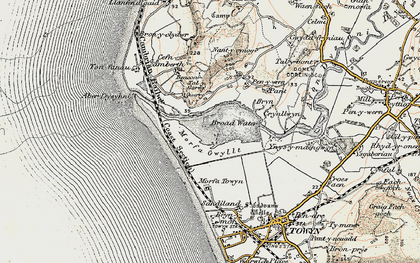 Old map of Aber Dysynni in 1902-1903