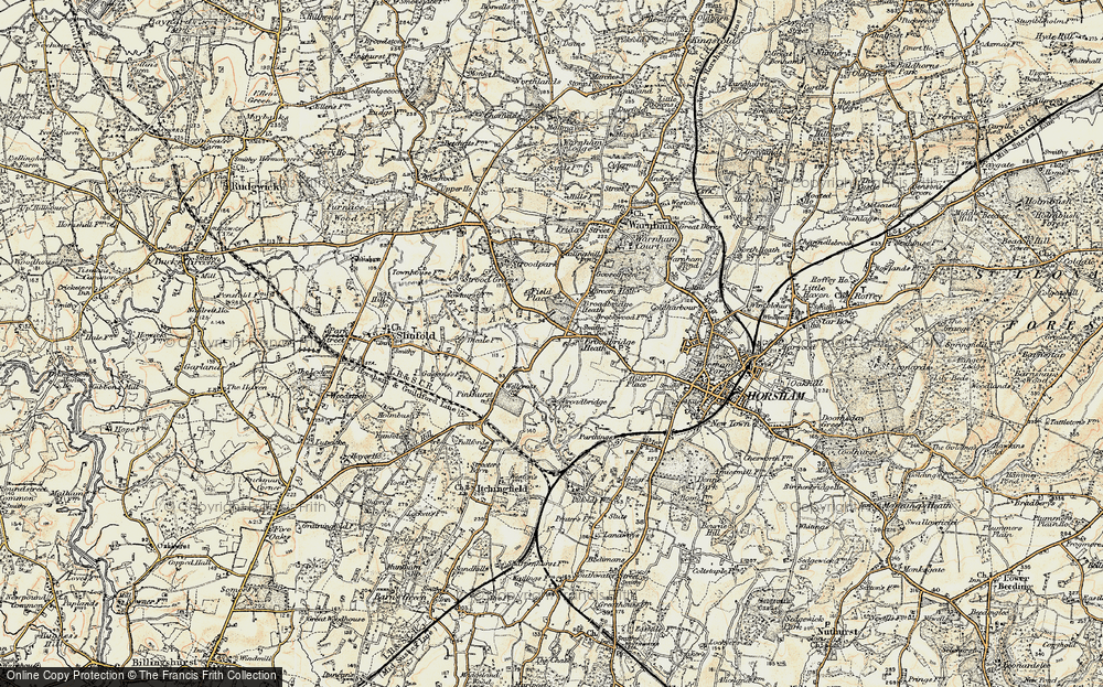 Old Map of Broadbridge Heath, 1898 in 1898