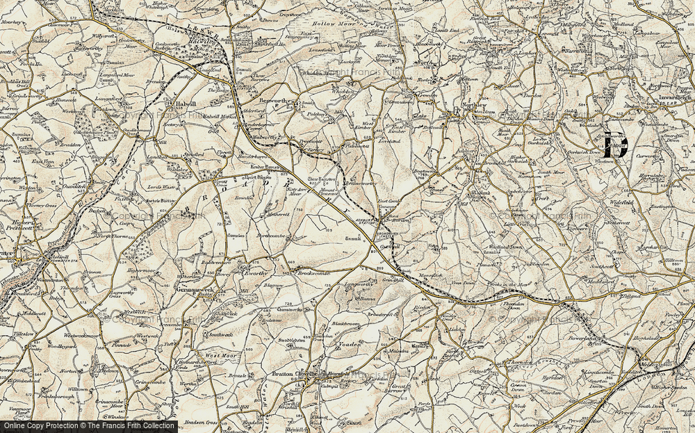 Old Map of Broadbury, 1900 in 1900