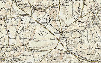 Old map of Broadbury in 1900