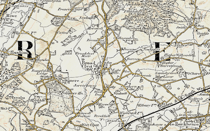 Old map of Broadclyst in 1898-1900
