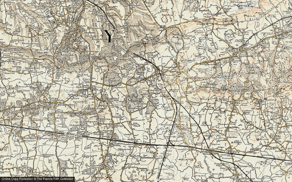 Old Map of Broadham Green, 1898-1902 in 1898-1902