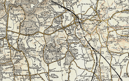 Old map of Broadham Green in 1898-1902