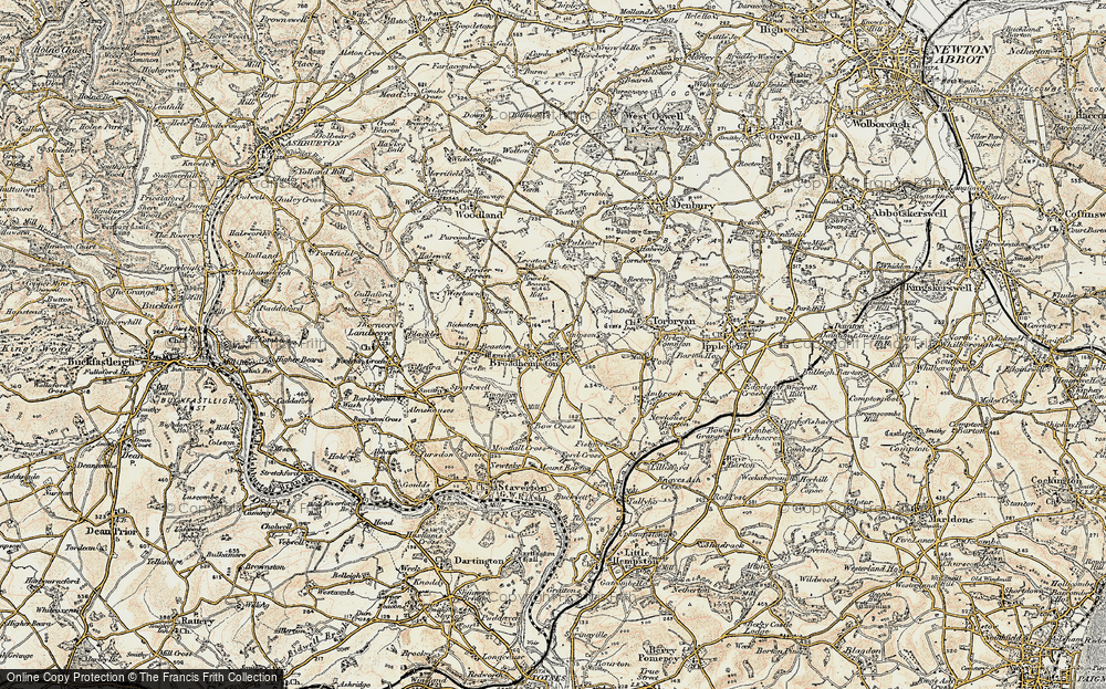 Old Map of Historic Map covering Lee in 1899